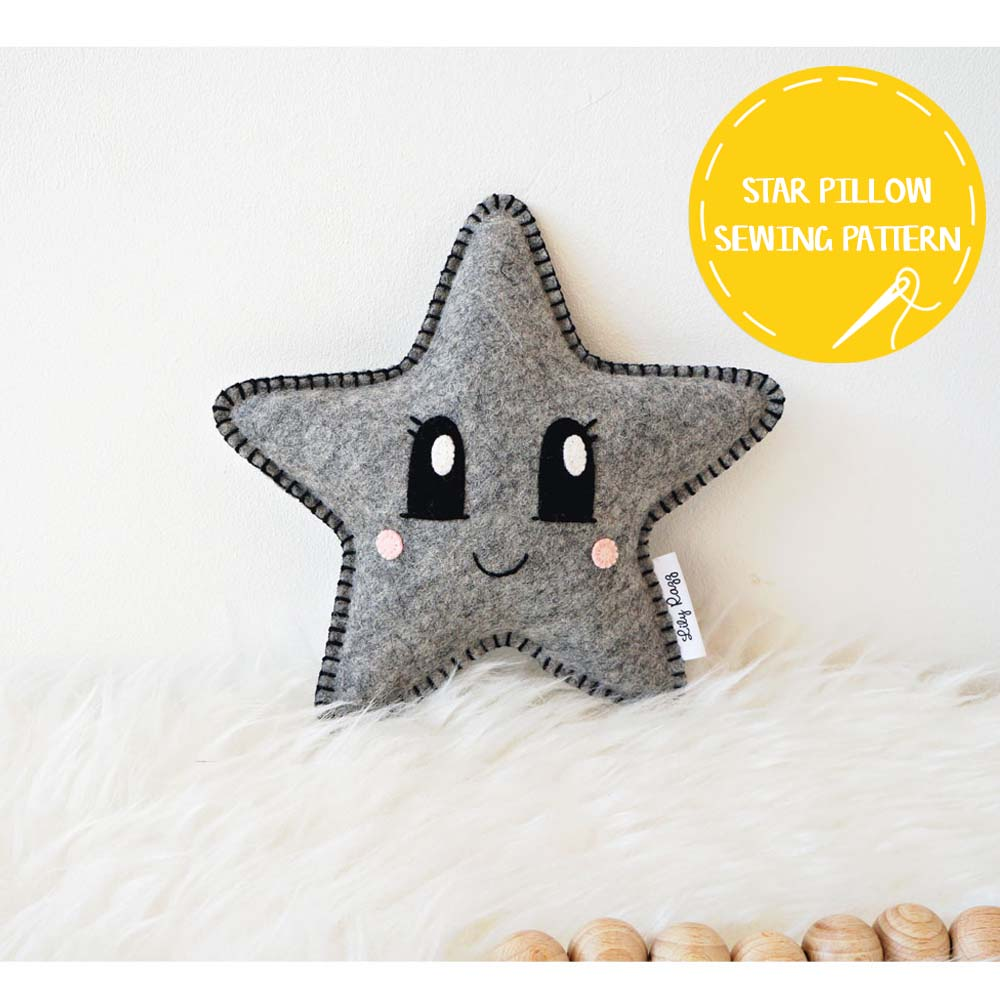 star pillow sewing pattern